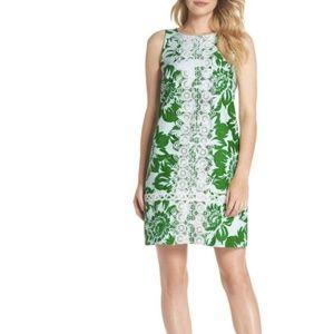 Eliza J Tropical Floral Print Shift Dress Size 14